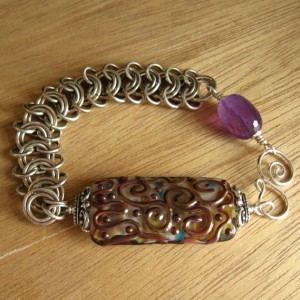 Flat Snake Weave with bead links