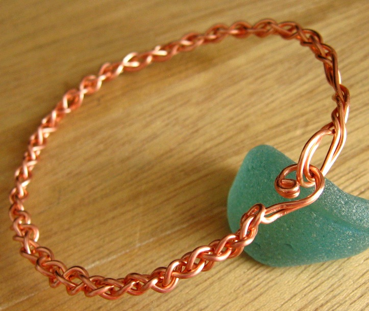 Braided Copper Bangle Tutorial