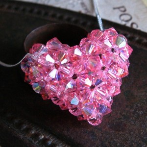 Light Rose AB Puffy Heart