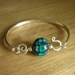 Drilled Squiggle Bangle