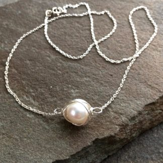 Pearl Nest Necklace by AnneMade Jewelry